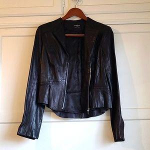 Bebe leather moto jacket